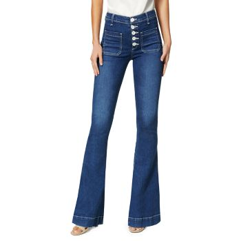 Cindy Button-Fly Flare Jeans Ramy Brook