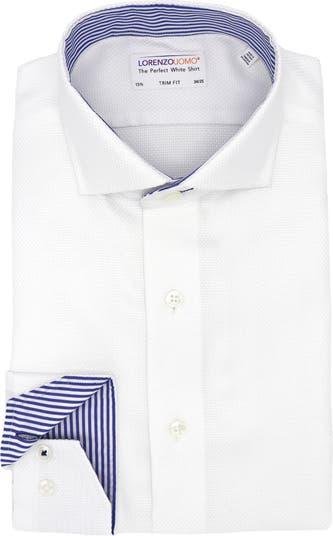 Классическая рубашка из тканого материала с трикотажной резинкой Lorenzo Uomo