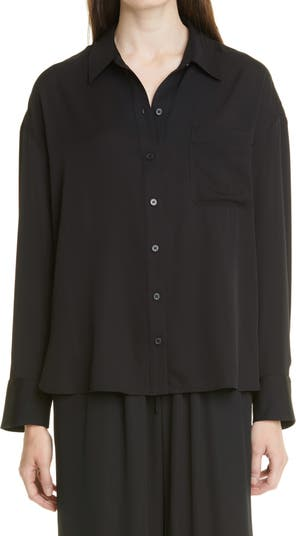 Relaxed Stretch Silk Shirt Nordstrom Signature