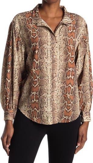 Блуза с длинным рукавом и принтом спереди с воротником на пуговицах CATHERINE Catherine Malandrino