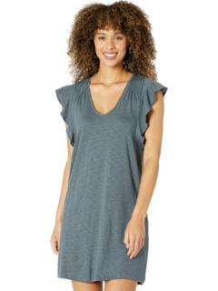 Ruffle Sleeve V-Neck Dress Lilla P