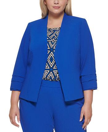 Пиджак большого размера с открытыми передними рукавами и плиссированными манжетами Calvin Klein