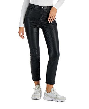 Прямые брюки из искусственной кожи для юниоров, созданные для Macy's Tinseltown