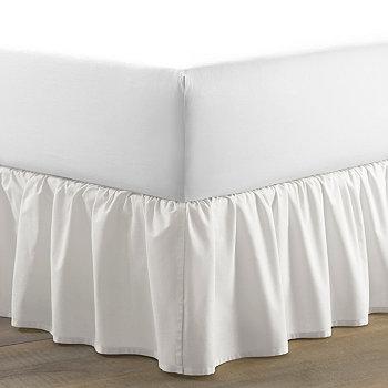 Белая юбка-кровать Twin Solid с рюшами Laura Ashley