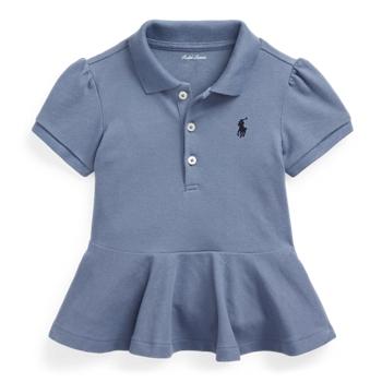 Рубашка-поло из хлопкового пике с баской Ralph Lauren