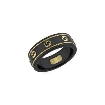 Кольцо Icon из желтого золота & amp; Корунд GUCCI