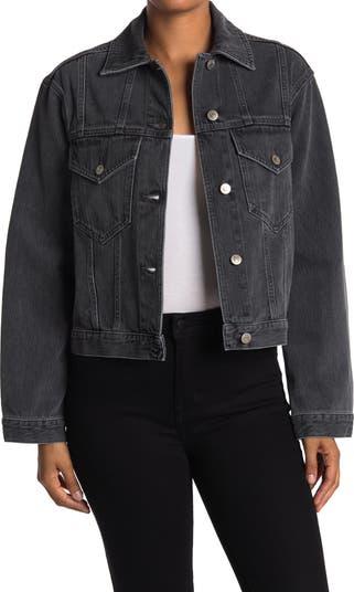 Укороченная джинсовая куртка Maren Nanushka