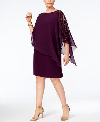 Шифоновое платье поповер плюс размер XSCAPE