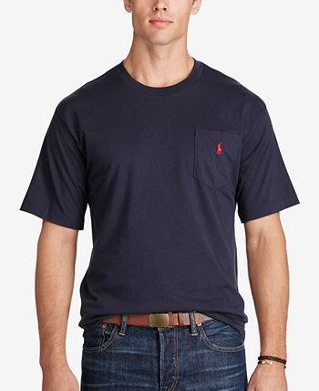 Мужская большая и высокая карманная футболка с круглым вырезом Ralph Lauren
