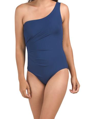 One Shoulder Ruched One-piece Swimsuit Jantzen