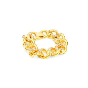 22-каратное желтое золото с покрытием & amp; Украшенный браслет Kenneth Jay Lane