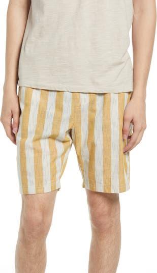 Полосатые шорты со средней посадкой NATIVE YOUTH