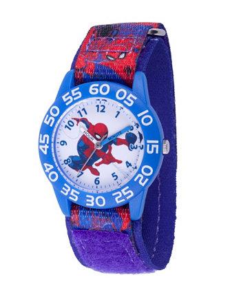Голубые пластиковые часы для учителя времени Marvel Spider-Man Boys Ewatchfactory