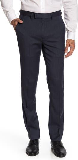 Миниатюрные брюки узкого кроя с узором «елочка» - внутренний шов 30–34 дюйма Louis Raphael