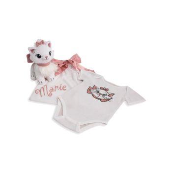 Боди, сумка и сумка из трех частей для маленьких девочек Disney's Aristocats Marie Baby; Набор плюшевых игрушек Barefoot Dreams