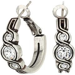 Серьги-кольца с блестками Infinity Brighton
