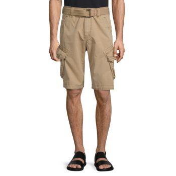 Камуфляжные шорты-карго с поясом Jetlag