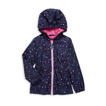 Куртка Little Girl's Star с капюшоном Pink Platinum