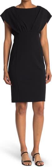 Capelet Sheath Dress Calvin Klein
