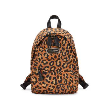 Миниатюрный рюкзак с леопардовым принтом Marc Jacobs
