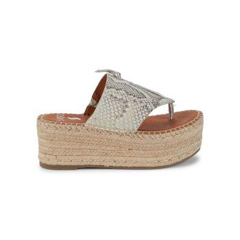 Кожаные сандалии на платформе Malia SARTO BY FRANCO SARTO