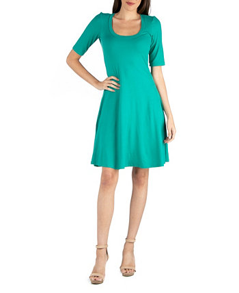 Платье длиной до колен с рукавами длиной до локтя 24seven Comfort Apparel