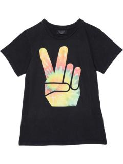 Рубашка с коротким рукавом с рисунком Peace Out (для малышей / маленьких детей / старших детей) Tiny Whales