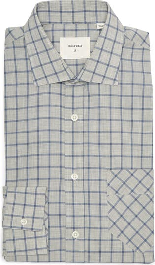 Holt Windowpane Print Dress Shirt Billy Reid