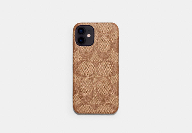 Iphone 12 Mini Case In Signature Canvas COACH