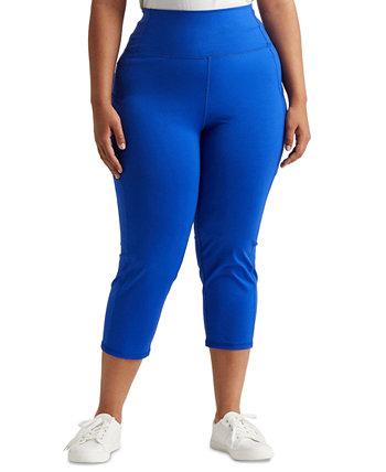 Plus-Size Stretch Jersey Cropped Pants Ralph Lauren