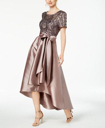 Платье с пайетками High-Low R & M Richards