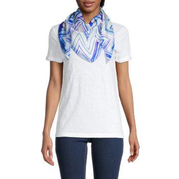 Шелковый шарф с шевронным принтом Missoni