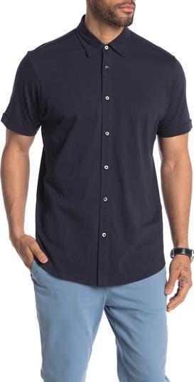 Однотонная рубашка из джерси с короткими рукавами Luxx COASTAORO