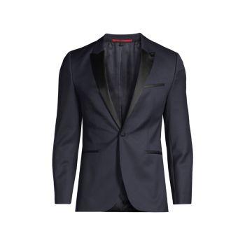 Artisan Silk-Trimmed Tuxedo Jacket HUGO