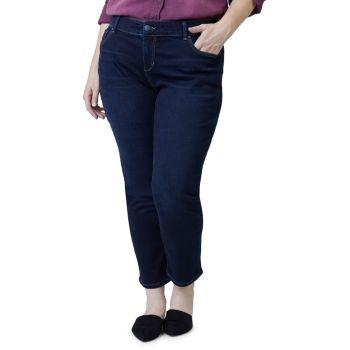 Джинсы-бойфренды со средней посадкой до щиколотки Slink Jeans, Plus Size