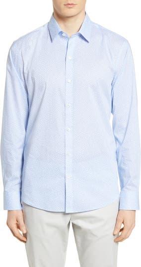 Рубашка на пуговицах классического кроя Jim с геометрическим принтом Zachary Prell