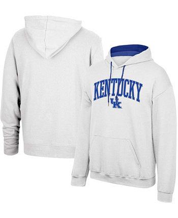 Мужская белая толстовка с капюшоном и логотипом Kentucky Wildcats Foundation Arch Logo Top of the World