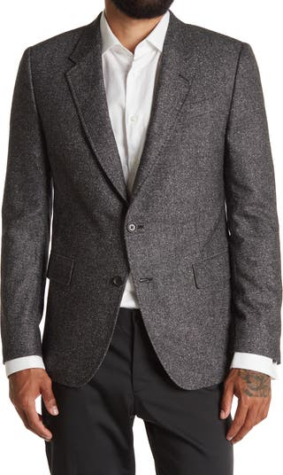 Walton Grey Herringbone Two Button Notch Lapel Sport Coat Billy Reid