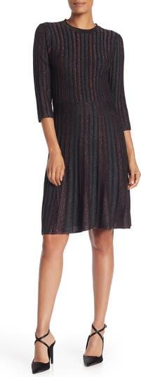 Платье с расклешенными рукавами и локтями с металлическими полосками Nanette nanette lepore