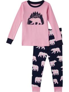 Sister Bear Pajama Set (Toddler/Little Kids/Big Kids) Little Blue House by Hatley Kids