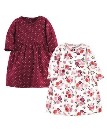 Платья для девочек с цветочным принтом, упаковка 2 Hudson Baby