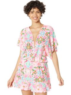 Платье Ocean Drive Playera с V-образным вырезом и оборками Luli Fama