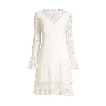 Многослойное кружевное платье с воланами SHANI