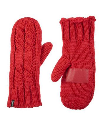 Женские толстые вязаные варежки с подкладкой и перчатками Isotoner Signature