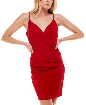 Облегающее платье с V-образным вырезом и V-образным вырезом Juniors Emerald Sundae