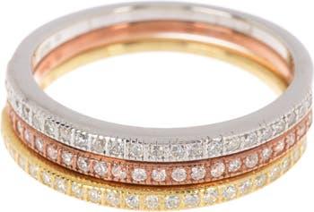 Набор трехцветных браслетов с кристаллами Swarovski Half Eternity ADORNIA