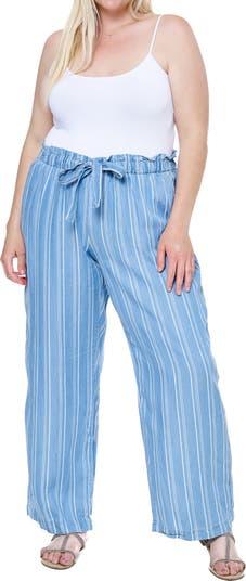 Полосатые брюки с кулиской SINGLE THREAD