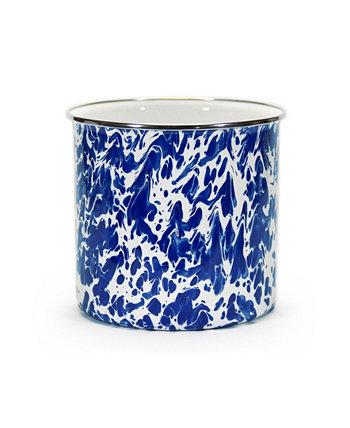 Cobalt Swirl Enamelware Collection Подставка для посуды Golden Rabbit