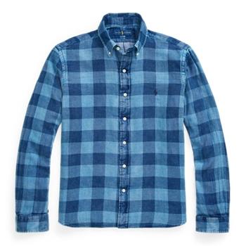 Двусторонняя рубашка классического кроя в клетку Ralph Lauren