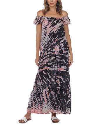 Макси-платье с принтом тай-дай Raviya